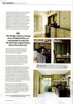 Martin Moore case study - enduring classic kitchen style with a contemporary open plan layout martinmoore.com Homes & Gardens August 2014
