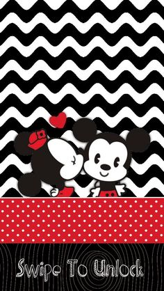 Kawaii Mickey and Minnie Background