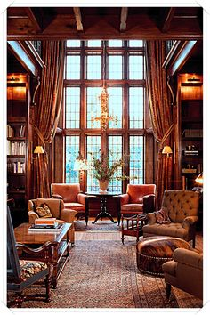 53 Trendy Home Library Ideas Room House English Manor Houses, English House, English Library, English Country Style, English Cottages, American Country, Interior Exterior, Interior Architecture, Interior Design