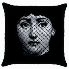 Fornasetti Face Lace Throw Pillow Case