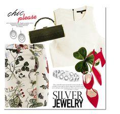 """Sweet Silver Jewelry"" by mada-malureanu ❤ liked on Polyvore featuring TIBI, Nicholas Kirkwood, KOVA, Lagos, John Hardy, Gucci, polyvoreeditorial, silverjewelry and clover"