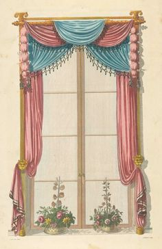 Red and blue drapery / cabinet maker and artist's encyclopedia