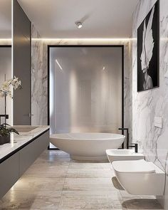 On a budget bathroom design ideas. Every bathroom remodel starts with a design suggestion. From complete master bathroom restorations, smaller sized visitor bath remodels, and also bathroom remodels of all sizes. Luxury Master Bathrooms, Chic Bathrooms, Dream Bathrooms, Master Baths, Small Bathrooms, Glamorous Bathroom, Beautiful Bathrooms, Modern Bathroom Design, Bathroom Interior Design