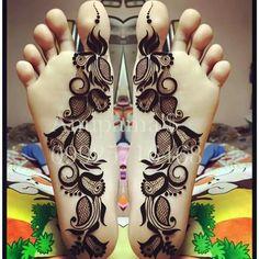 Henna Designs Feet, Henna Designs Easy, New Mehndi Designs, Leg Henna, Foot Henna, Hand Henna, Unique Henna, Simple Henna, Mehndi Art