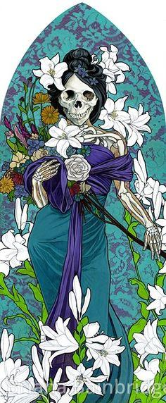 ☆ Santa Muerte as an Allegory of Spring :¦: By Artist Briana Bainbridge ☆