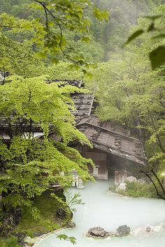 Shirahone onsen, Nagano prefecture, Japan
