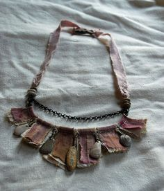 reserved - sappho's lost letters, mixed media necklace
