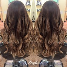 Golden Chestnut Brown Balayage