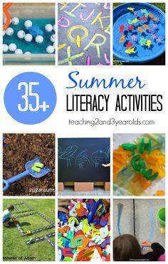 Preschool Literacy Activities for Summer
