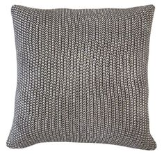 Foil Moss Knit Filled Cushion Charcoal and Silver Fashion Hub, Fashion Online, Fashion Design, Metallic Cushions, Top Designer Brands, Branding Design, Charcoal, Knitting, Daily Deals