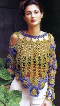 Acho esta Blusa uma peça extremamente linda. Se usada com uma segunda pele e tendo sido executada com lã bem fininha, fica arraso puro! Segu...