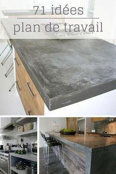 Plan De Travail Cuisine En 71 Photos (idées, inspirations, conseils,…) http://www.homelisty.com/plan-de-travail-cuisine-en-71-photos-idees-inspirations-conseils/