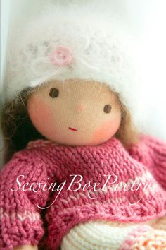 Waldorf inspired Baby Doll - Mini Poetry Baby - 7'' - Use Coupon Code 10OFF to get 10 percent off. $75.00, via Etsy.