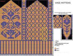 Bilderesultat for knitting socks chart Crochet Mittens Free Pattern, Knit Mittens, Crochet Chart, Knitting Socks, Knit Socks, Knitting Charts, Knitting Stitches, Knitting Patterns, Chart Design