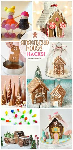 Gingerbread house hacks! - A girl and a glue gun #gingerbreadhouse #christmas