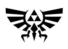 Zelda inspired triforce 4 Decal White by boutiqueautocollant, $3.50
