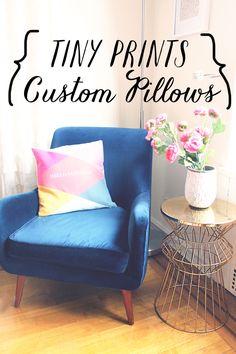 Tiny Prints makes gorgeous pillows now!