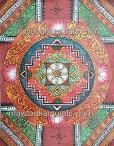 Mayoogha Mural Painting arts gallery is online art gallery-Guruvayoor is an innovative initiative by Mural artist Sastrasarman Prasad. Mural Art, Wall Murals, Kerala Mural Painting, Ceiling Art, Indian Folk Art, Outline Drawings, Indian Paintings, Paint Designs, Traditional Art