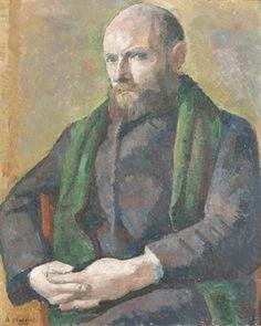 Alexandre Blanchet - Portrait du graveur Maurice Baud, 1912 - Huile sur toile, 73 x 60 cm. Art, Painting
