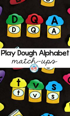 Play Dough Alphabet Match-Ups are a fun, hands-on way for students to practice learning the letters of the alphabet. This free printable is perfect for preschool and kindergarten students. File Folder Activities, Alphabet Activities, Folder Games, Spelling Activities, Alphabet Games For Preschoolers, Phonics Games, Abc Games, Preschool Literacy, In Kindergarten