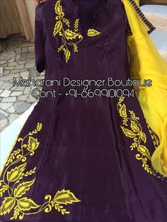 Looking For Punjabi Suits Online Boutique, Salwar Suits from Maharani Designer Boutique, Call - ( Whatsapp ) Punjabi Suits Designer Boutique, Boutique Suits, Indian Designer Suits, Embroidery Suits Punjabi, Embroidery Suits Design, Embroidery Stitches, Designer Party Wear Dresses, Kurti Designs Party Wear, Neck Designs For Suits