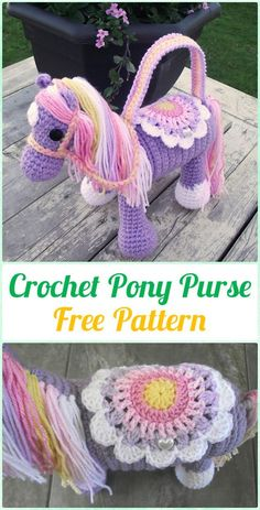 Crochet Pony Purse Free Pattern - Crochet Kids Bags Free Patterns