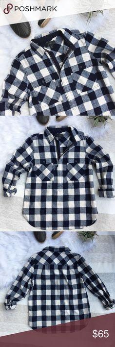 """J. Crew Buffalo Plaid Shirt Jacket J. Crew 