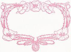 Old Design Shop ~ free digital image: vintage floral red frame clipart