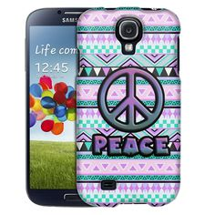 Samsung Galaxy S4 Peace on Aztec Andes Mauve Teal Slim Case