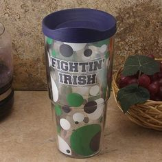 Tervis Tumbler Notre Dame Fighting Irish 24oz. Polka Dot Travel Tumbler With Lid