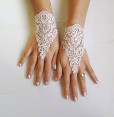 ...these would be perfect with a bohemian style lace mini dress