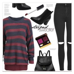 """""""Striped sweater"""" by mycherryblossom ❤ liked on Polyvore featuring Topshop, Tom Ford and Chanel"""