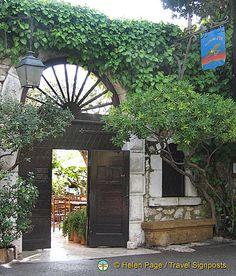 La Colombe d'Or restaurant, St. Paul de Vence, France. A landmark in the south of France.
