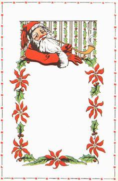 Santa stationery