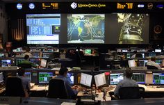 NASA Johnson Space Center Space Shuttle Mission Control Center - docked with ISS - Whirlpool Galaxy-Andromeda Galaxy-Black Holes