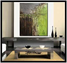 Modern Abstract Canvas Painting - Limited Edition Giclee - OF SERIOUS NATURE - 30 x 36 x 1.5 XL Ready to Hang.... - Listing price: $1,450.00 Now: $165.00
