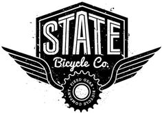 The best bike makers ever! --state bicycle co Typography Letters, Typography Logo, Graphic Design Typography, Logo Branding, Branding Design, Hand Lettering, Bike Logo, Packaging, Retro Logos