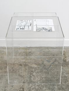 JULIEN CARREYN The Internet, 2014 pencil and graphite on paper, plexiglas hay vitrines 29 × 19 × 19 in Chair, Furniture, Graphite, Fiction, Objects, Pencil, Internet, Sculpture, Home Decor