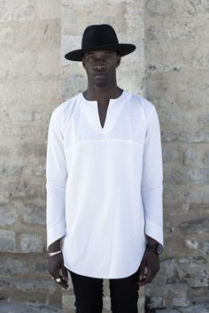 You can now order this men tunic shirt at Pure Couture atelier! Pure Couture atelier clothing are custom orders and is being created individually for each customer, according to one's individual SIZE (measurements) and one's individual HEIGHT. Kaftan Men, White Linen Shirt, White Tunic, Linen Tunic, Cotton Linen, Cotton Kaftan, Supernatural Shirt, Vetements Clothing, Style Streetwear