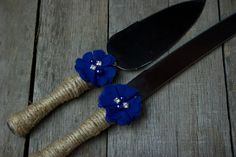 Twine Burlap Royal Blue Country Rustic by ThePinkBunnyWeddings, $22.99