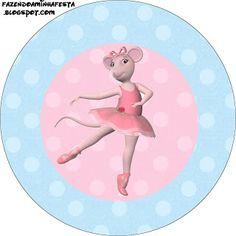 (Large Party Printable Set) Angelina Bailarina – Kit Completo com molduras para convites, rótulos para guloseimas, lembrancinhas e imagens! | Fazendo a Nossa Festa