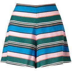 Miss Selfridge Petites Stripe Flippy Skort (2.495 RUB) ❤ liked on Polyvore featuring skirts, mini skirts, multi, petite, petite skirts, blue striped skirt, striped mini skirt, rayon skirt and stripe skirt