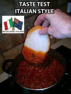 My dad always said the only way to truly taste your sauce is with a good piece of Italian bread - and he was right! AMC