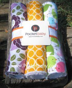 3 Handmade Burp Cloths  Set of 3 Burp Cloths  Baby by Pocketbaby, $21.50