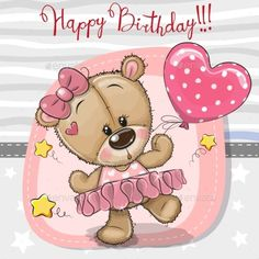 Cute cartoon dancing teddy bear vector image on VectorStock Cute Cartoon Pictures, Cute Cartoon Girl, Cute Cartoon Animals, Cartoon Kids, Disney Cartoon Characters, Tatty Teddy, Teddy Bear Cartoon, Cute Teddy Bears, Birthday Greetings