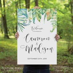 Printable Wedding Welcome Sign Rustic Whimsical by CouturePress