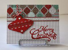 Scrappy-Gram's Designs: Sparkle & Shine christmas card