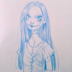 4,584 отметок «Нравится», 38 комментариев — Sara Tepes | 18 (@sarucatepes) в Instagram: «Sally, I'm conquering my fear of this movie and sewed up chunks of flesh  * * #art #drawing…»