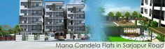Mana Candela Flats & Apartments in Sarjapur Road are located near IT Corridor of Bangalore. Sarjapur Road is very fast growing residential area in Bangalore and the flats for sale is also affordable than the neighborhood areas like Whitefield, Koramangala, Marthahalli, Outer Ring Road, etc. Mana Candela Apartments in Sarjapur Road providing 2BHK, 3BHK Flats for Sales with Luxurious amenities and specifications and the price Range Starting from 33 Lakhs.