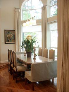 Dining Room  Contemporary  Dining Room  Atlanta  Brian Watford Alluring Dining Room Window Treatments 2018